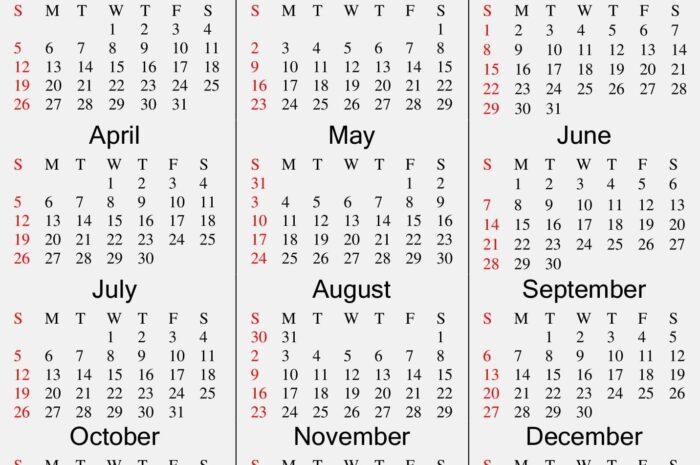 Printable 2020 Calendar Online Download