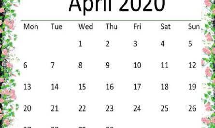 Cute April 2020 Calendar Pinterest