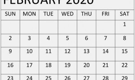 Free Printable February 2020 Calendar Print