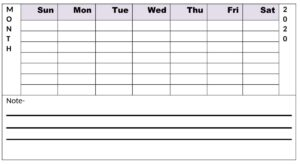Free Printable Monthly Planner Blank Template