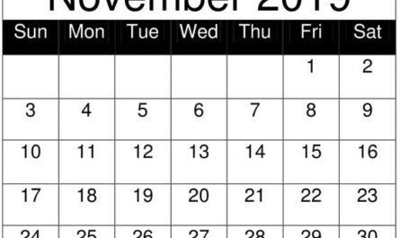 Free Printable November 2019 Calendar