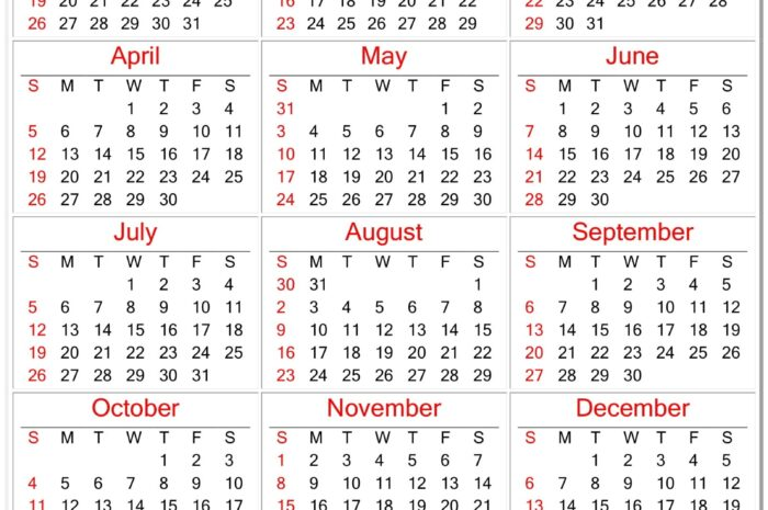 Calendar For 2020 Printable Planner