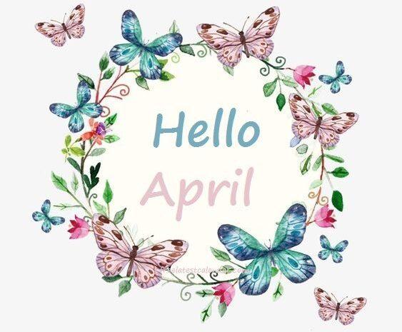 Hello April Tumblr, Facebook, Pinterest