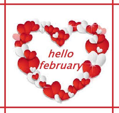 Hello February Twitter, Pinterest, Tumblr