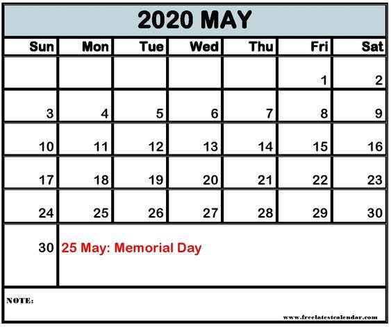 May 2020 Calendar With Holidays India