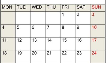 May Calendar 2020 Floral
