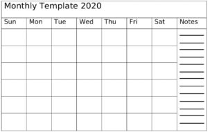 Monthly Planner Template For PDF, Word, Excel