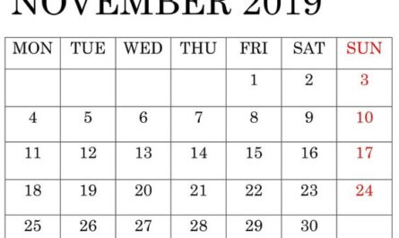 November 2019 Calendar Bold