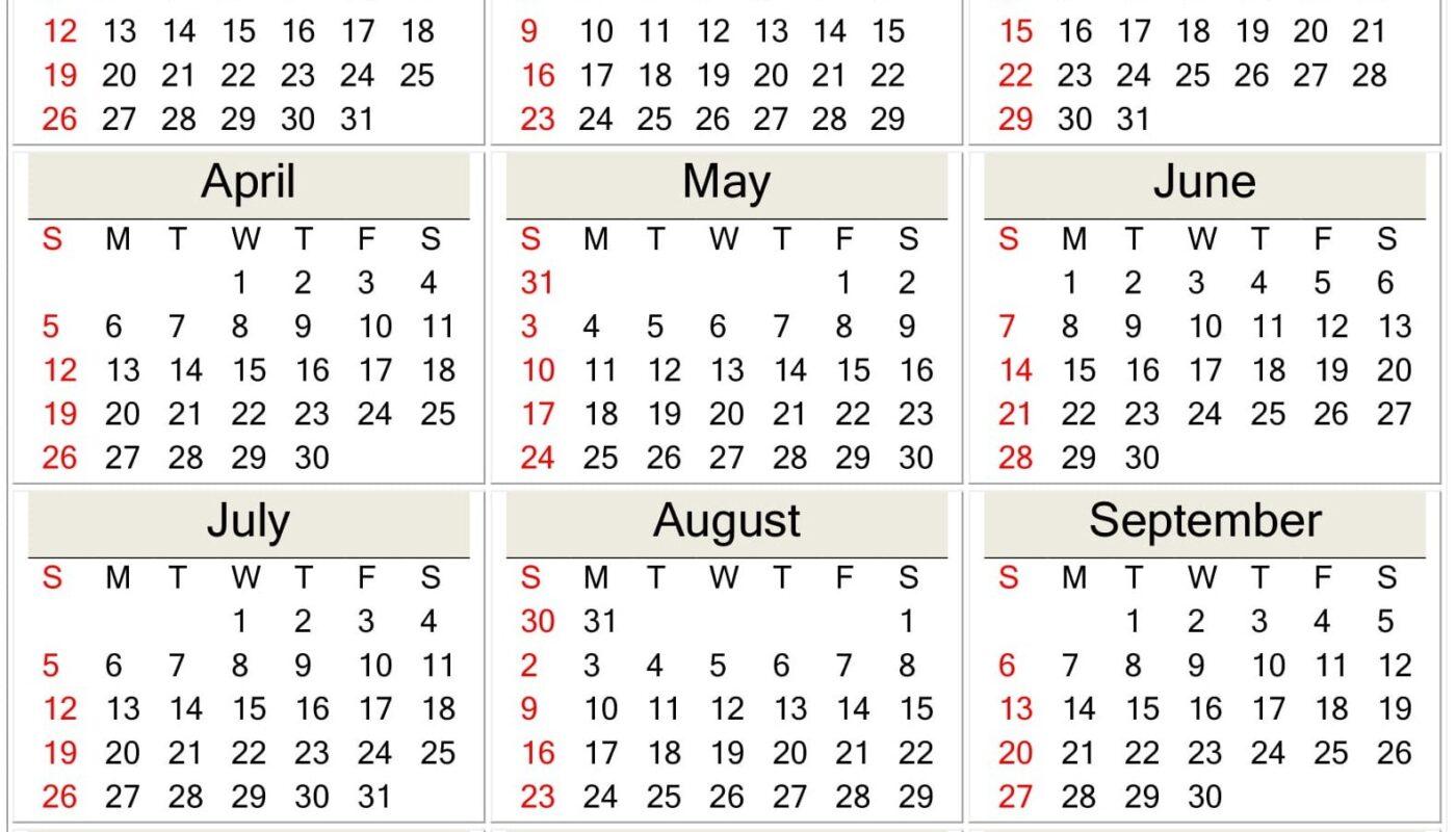 Printable 2020 Calendar Template