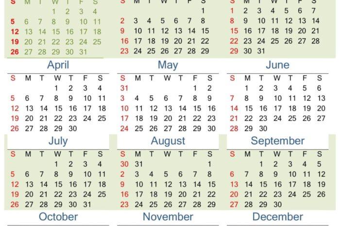 Printable Calendar 2020 PDF Template