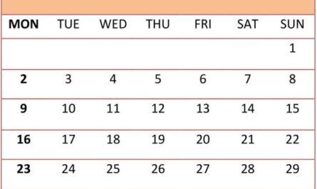 Printable September 2019 Calendar Template