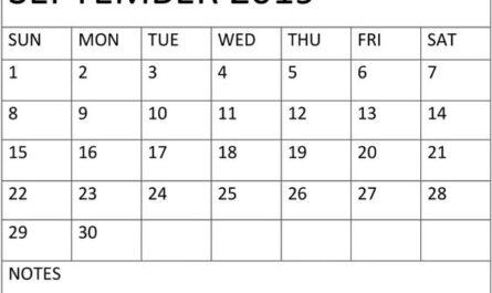 September Calendar 2019 Desk