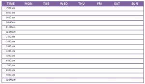 Weekly Calendar 2020 Template