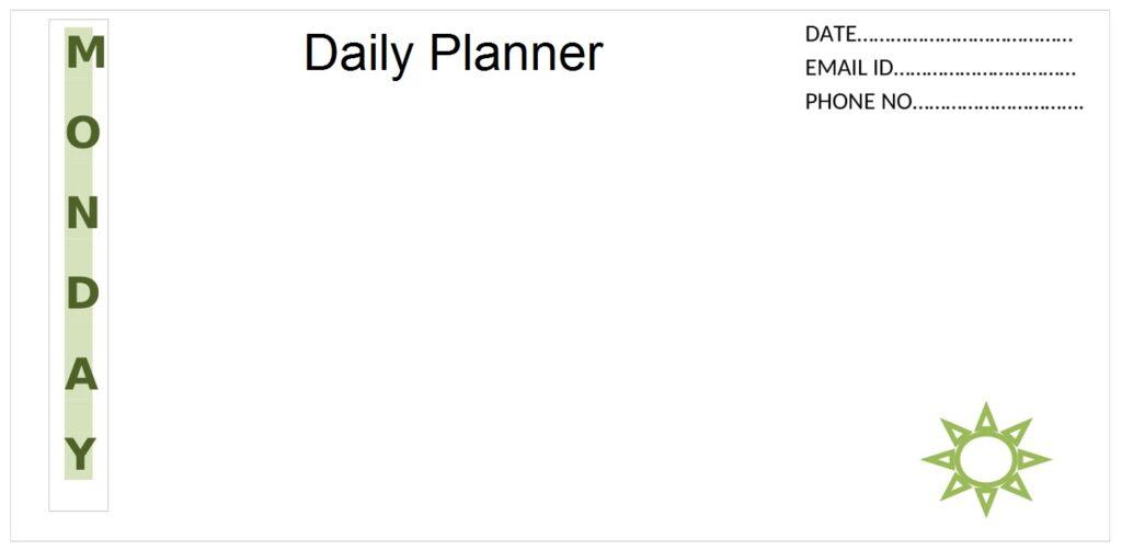 Weekly Planner Calendar