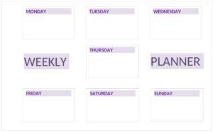 Weekly Planner Cute