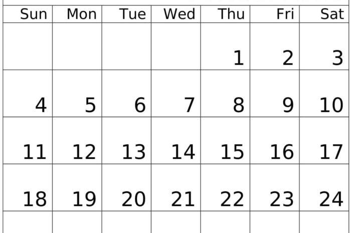 October 2020 Calendar Monthly Template