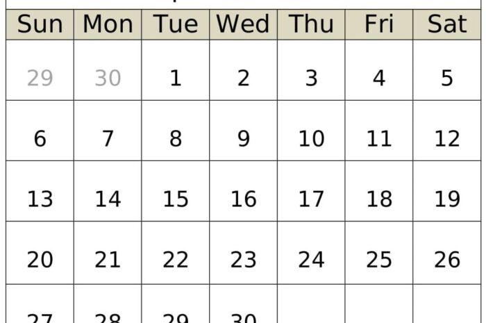 September Calendar 2020 Planner PDF