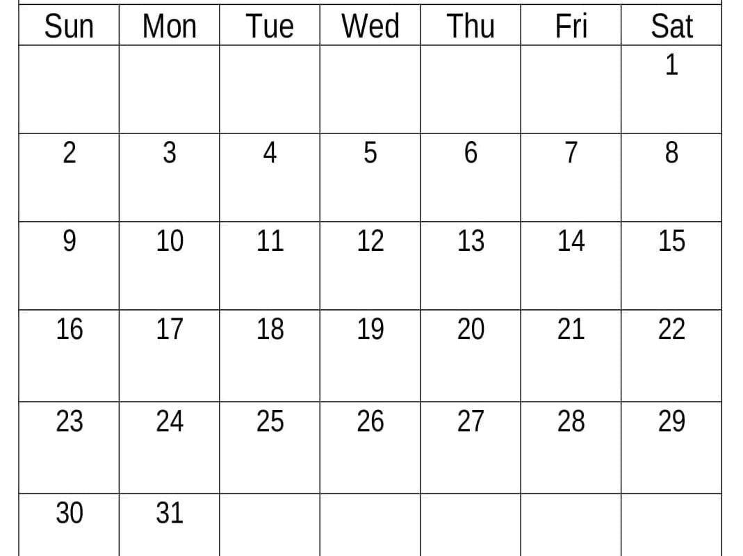 May 2021 Calendar Printable